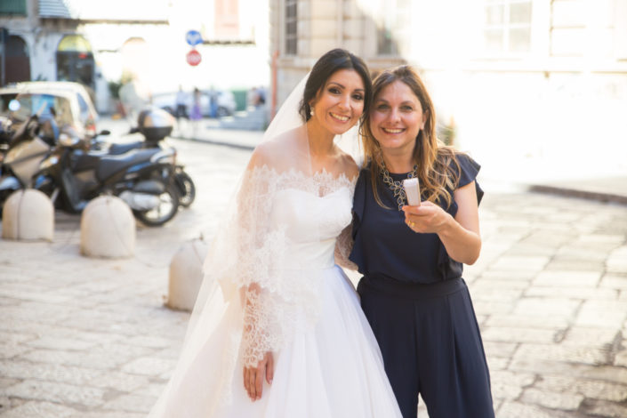 Wedding planner Valentina Barrile con la sposa