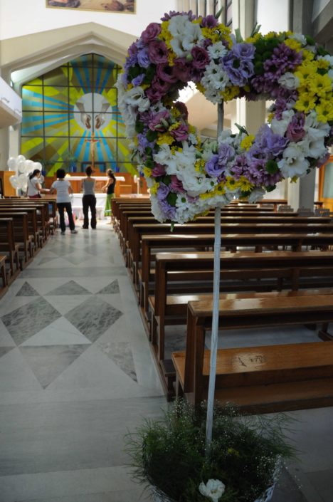 allestimento chiesa Palermo