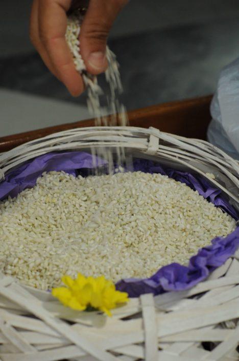 lancio del riso